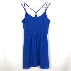 BCX Dress Royal Blue Strappy Sundress